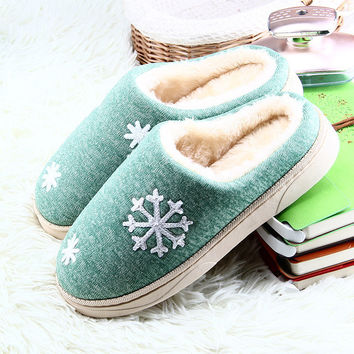 Women Winter Warm Ful Slippers Women Slippers Cotton Sheep Lovers Home Slippers Indoor Soft Outsole Plush Size House Shoes Woman
