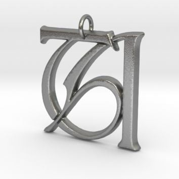 Monogram Initials TA Pendant by CalicoFlair on Shapeways