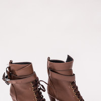 THE GRACIE BOOTS IN BROWN - Popcherry