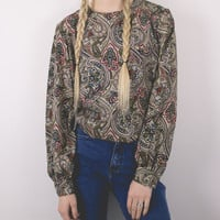 Vintage Paisley Abstract Blouse