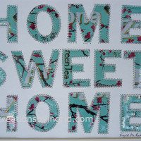 Arizona Tea   Can Letter Collage  Home  Sweet  Home 11 x 14  Mixed media Aluminum Inspirational Funky