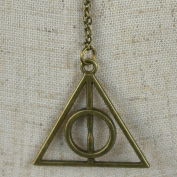 Harry Potter Hogwarts Deathly hallows Necklace Pendant