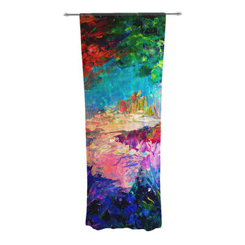 "Ebi Emporium ""Welcome to Utopia"" Rainbow Decorative Sheer Curtains"