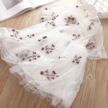 Girls Dress Elegant 2019 NEW Brand Summer Christmas Lace Dresses For Kids Girl Clothes Design Children Party Princess Costumes 3