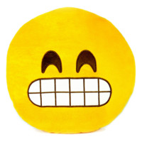 Popular Round Emoji Plush Pillow Grin