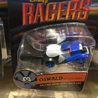 disney parks racers die cast metal body 1/64 scale car oswald new with box