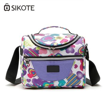 SIKOTE Portable Thermal Lunch Bags for Women Kids Men Insulated Tote Bag Storage Container Multifunction Food Picnic Cooler Box