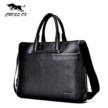 Summer New Arrival Men's Satchel Briefcases Genuine Leather Handbags For Men Satchel Shoulder Bag Portfolio