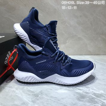 KUYOU A404 Adidas AlphaBounce HPC AMS 3M Bouncetm Forged Mesh Running Shoes Blue