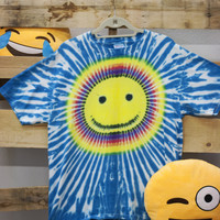 Vintage Tie Dye Happy Face Tee