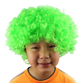 Newest Halloween Clown Curly Afro Circus Fancy Dress Hair Wigs Xmas Party Disco Costume For Gift