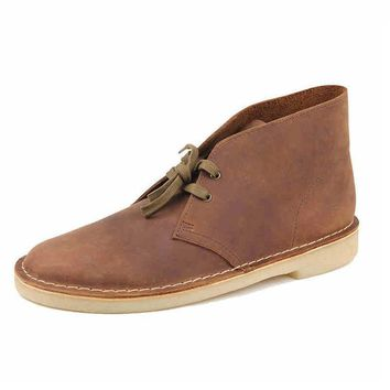 Men's Vintage Style Leather Desert Chukka boots