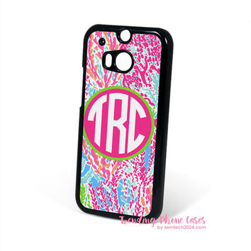 Lilly Pulitzer Lets Cha Cha Monogram HTC One M8 Case Cover for M9 M8 One X Case