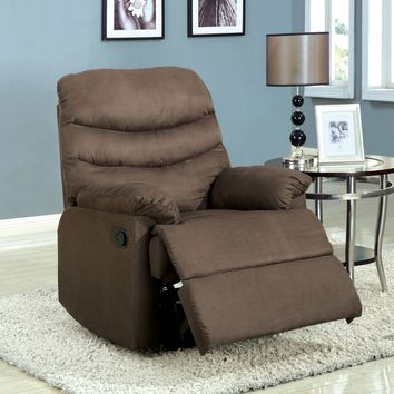 Maura Transitional Bonded Leather Recliner Chair, Gray