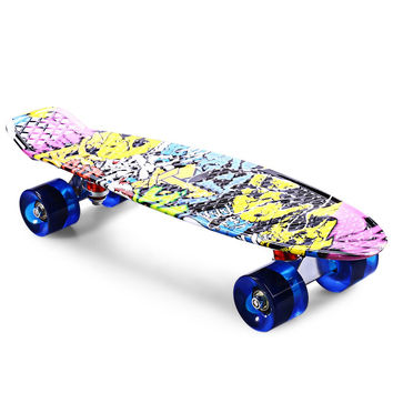 CL - 85 22 inch Dragon Skateboard Printing Graffiti Style Skateboard Complete Retro Cruiser Longboard Retro Skate Long Board