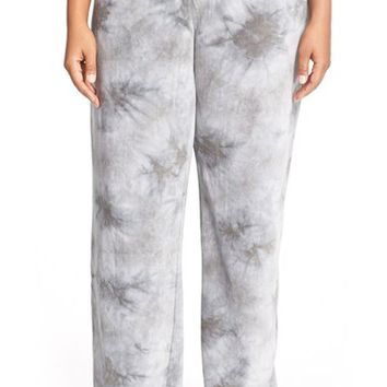 Plus Size Women's PJ Salvage Tie-Dye Velour Lounge Pants,