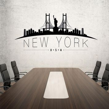 New York USA Skyline Wall Decal
