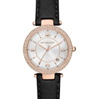 Michael Kors Women's Hartman Pink Leather Strap Watch 38mm MK2480 | macys.com