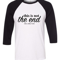 "One Direction ""History - This is not the end."" Baseball Tee"