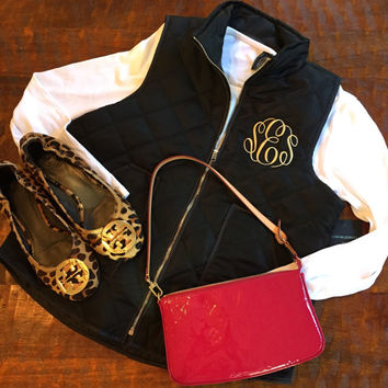 Diamond Quilt Monogram Vest