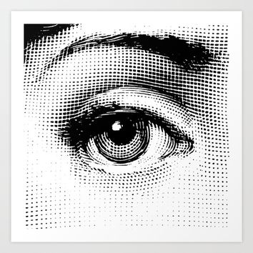 Lina Cavalieri Eye 01 Art Print by Leartset