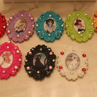 SAILOR MOON Character Cameo Necklaces - 8 choices!