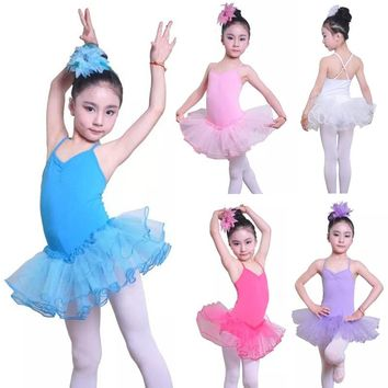 Girls Ballet Tutu Dress For Children Dancer Leotard Girl Dance Clothing Kids Ballet Costumes for Girls Cute Girl Stage Dancewear