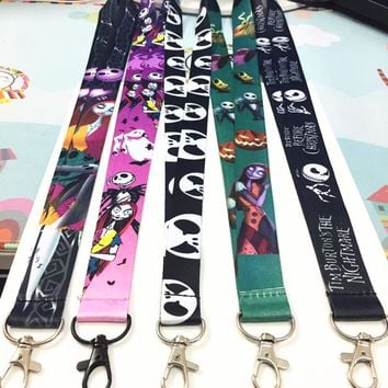 Lot 5 PCS different The Nightmare Before Christmas key lanyard ID badge card holder keychain Neck straps Cosplay accessories