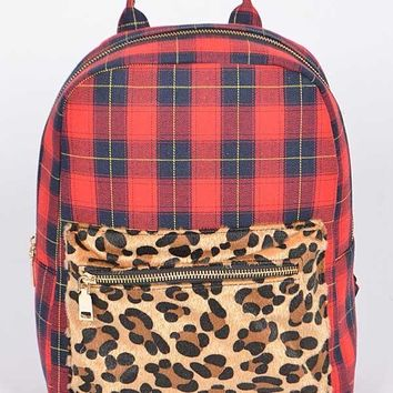 Fall Back To School Mixed Backpack With Zipper