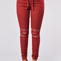 Born This Way Pants - Burgundy