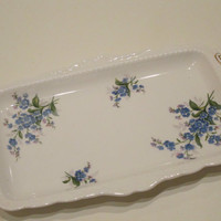 Royal Albert Forget Me Not Sandwich Plate. Perfect Condition.