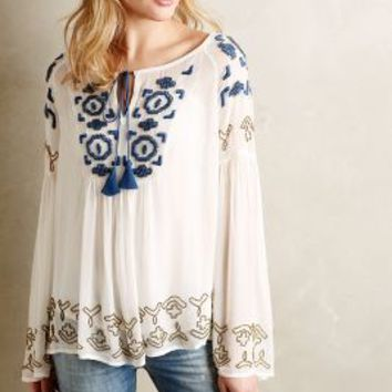 Diem Peasant Top by Vanessa Virginia Ivory