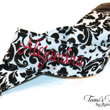 Personalized Camera Strap Damask, DSLR Camera Strap, Canon, Nikon, Embroidered Camera Strap, Custom Camera Strap