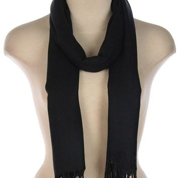 Classic Black Woven Scarf