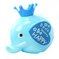 Adorable Elephant Shaped Money Box Piggy Coin Bank in Blue | DOTOLY