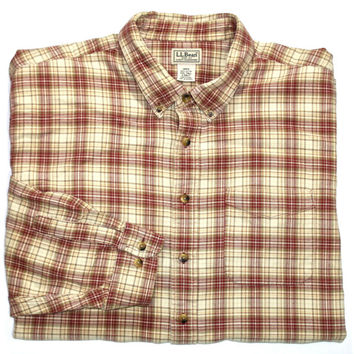 Vintage LL Bean Plaid Shirt Mens Size XXL