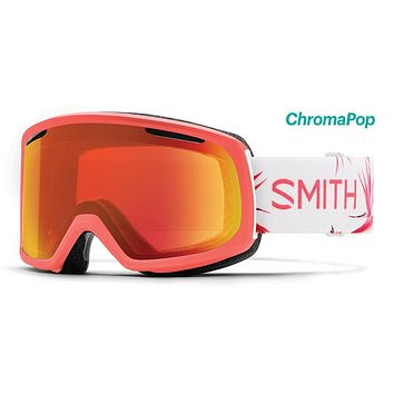 Smith - Riot Asian Fit Sunburst Zen Snow Goggles / ChromaPop Everyday Red Mirror Lenses