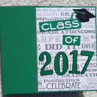6x6 Class of 2017 Green Graduation Scrapbook