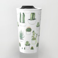 watercolour cacti and succulent Travel Mug by Vicky Webb | Society6