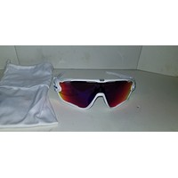 Oakley Jawbreaker Sunglasses OO9290-2131 Polished White Prizm Saphire Snow