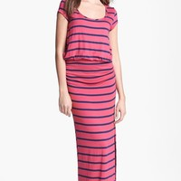 Everleigh Side Ruched Stripe Maxi Dress | Nordstrom