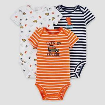 Baby Boys' 3 Pack Tiger Bodysuit Set Blue - Just One You™ Made by Carter's® : Target