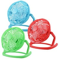 """Bulk Brightly-Colored Battery-Operated Mini Desk Fans, 4½"""" at DollarTree.com"""