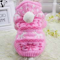 Pet Clothes Fashion Keep Warm Dog Clothing Small Dog Knit Sweater With Hooded Christmas Costume For Puppy Chihuahua XS-XL 108