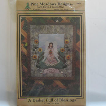 A Basket Full Of Blessings Wall Quilt Pattern by Pine Meadows Designs