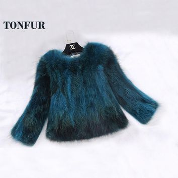Luxury Real Fox Fur Jacket Lady Fashion Custom Big Size Multi Colors Nature Fox Fur Coat Genuine Waistcoat DFP818