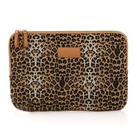 "ZLYC Leopard Print Canvas Laptop Sleeve for iPad/MacBook Air (10"")"