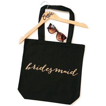Bridesmaid Calligraphy Tote Bag