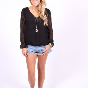 Buddy Love-Jessica Top-Black
