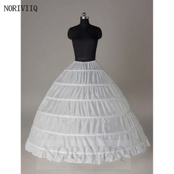 Intimates Cheapest Plus Size White Petticoat 6 Hoope Long Crinoline Underskirt Hoops Skirt For Swing Vintage Slips 01